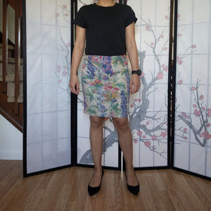 Floreat Floral Pencil Skirt
